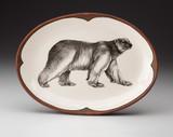 Oval Platter: Walking Bear