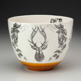 Medium Bowl: Red Stag