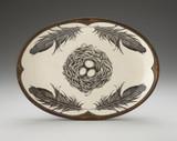Oval Platter: Black Bird Nest