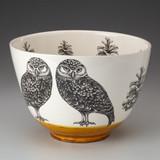 Large Bowl: Burrowing Owl