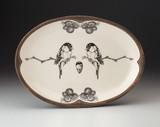 Oval Platter: Chickadee