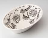 Large Serving Dish: Hummingbird #2