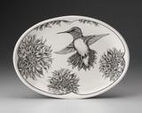 Oval Platter: Hummingbird #1