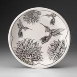 Small Round Platter: Hummingbird #4