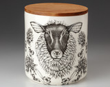 Large Canister with Lid: Suffolk Sheep