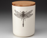Medium Canister with Lid: Dragonfly