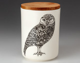 Medium Canister with Lid: Burrowing Owl