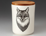 Medium Canister with Lid: Fox Portrait