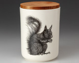 Medium Canister with Lid: Squirrel