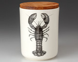 Medium Canister with Lid: Lobster