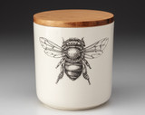 Small Canister with Lid: Honey Bee