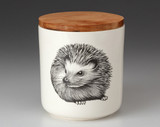 Small Canister with Lid: Hedgehog #2