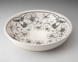 Pasta Bowl: Hummingbird in White