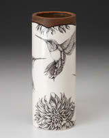 Small Vase: Hummingbird #4