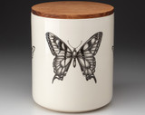 Large Canister with Lid: Swallowtail Butterfly