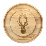 Maple Round Cheese Board: Red Stag