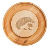 Maple Round Cheese Board: Hedgehog