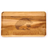 Small Maple Appetizer Tray: Hedgehog