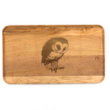 Small Maple Appetizer Tray: Barn Owl