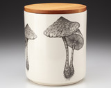 Large Canister with Lid: Parasol Mushroom