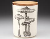 Medium Canister with Lid: Parasol #4 Mushroom