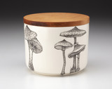 Mini Canister with Lid: Parasol Mushroom