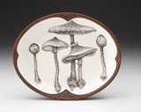 Small Serving Dish: Parasol Mushroom