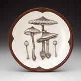 Small Round Platter: Parasol Mushroom
