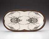 Rectangular Serving Dish: Goliath Beetle