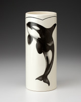 Large Vase: Jumping Orca