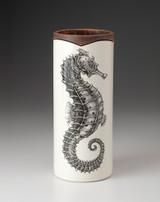Large Vase: Seahorse