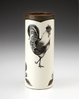 Small Vase: Rooster & Apple Blossom