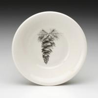 Sauce Bowl: White Pine Cone