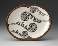 Small Serving Dish: Coiled Wood Fern
