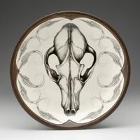 Small Round Platter: Fox Skull