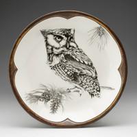 Small Round Platter: Screech Owl #1