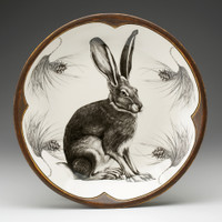 Small Round Platter: Sitting Hare