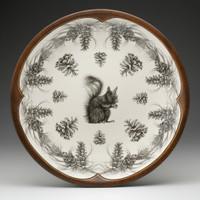 Large Round Platter: Squirrel