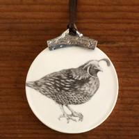 Ornament: Quail #2