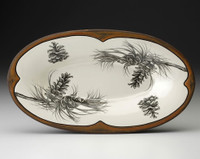 Oblong Serving Dish: Pine Branch