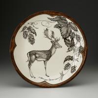 Small Round Platter: Fallow Buck