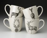Set of 4 Mugs: Deer