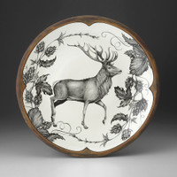 Large Round Platter: Red Buck