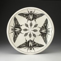 Large Round Platter: Goliath Beetle Open Wing