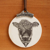 Ornament: Hereford Cow