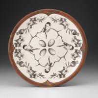 Large Round Platter: Chickadee