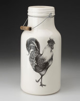 Jug with Handle: Rooster