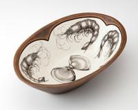 Large Serving Dish: Shrimp