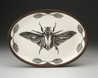 Oval Platter: Goliath Beetle Open Wing