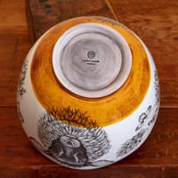 Example of glazed bottom of handmade ceramic Bowl